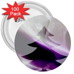 Purple Christmas Tree 3  Buttons (100 pack)