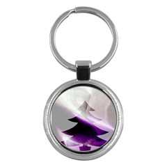 Purple Christmas Tree Key Chains (round)  by yoursparklingshop