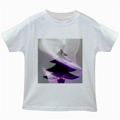 Purple Christmas Tree Kids White T Shirts by yoursparklingshop