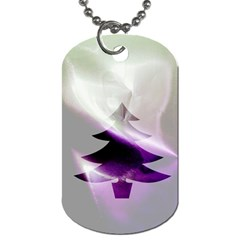 Purple Christmas Tree Dog Tag (one Side) by yoursparklingshop