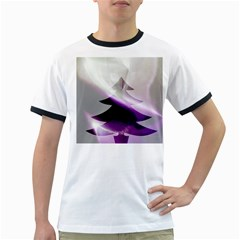 Purple Christmas Tree Ringer T Shirts by yoursparklingshop