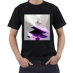 Purple Christmas Tree Men s T Shirt (black) (two Sided) by yoursparklingshop