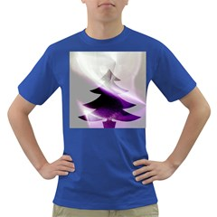 Purple Christmas Tree Dark T Shirt by yoursparklingshop