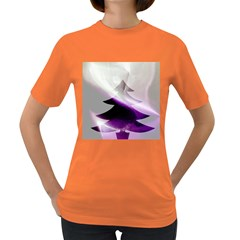 Purple Christmas Tree Women s Dark T Shirt by yoursparklingshop