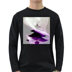 Purple Christmas Tree Long Sleeve Dark T Shirts by yoursparklingshop