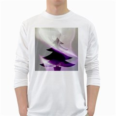Purple Christmas Tree White Long Sleeve T Shirts by yoursparklingshop