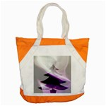 Purple Christmas Tree Accent Tote Bag