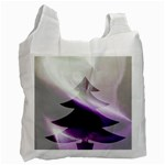 Purple Christmas Tree Recycle Bag (One Side)