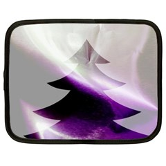 Purple Christmas Tree Netbook Case (xxl)  by yoursparklingshop