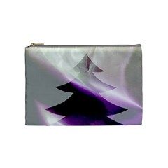 Purple Christmas Tree Cosmetic Bag (medium)  by yoursparklingshop