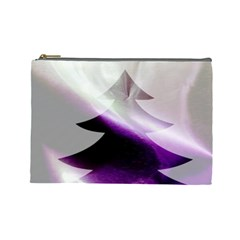 Purple Christmas Tree Cosmetic Bag (large)  by yoursparklingshop