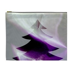 Purple Christmas Tree Cosmetic Bag (xl) by yoursparklingshop