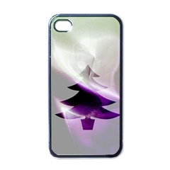 Purple Christmas Tree Apple Iphone 4 Case (black) by yoursparklingshop