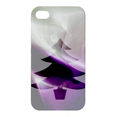 Purple Christmas Tree Apple Iphone 4/4s Hardshell Case by yoursparklingshop