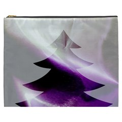 Purple Christmas Tree Cosmetic Bag (xxxl)  by yoursparklingshop