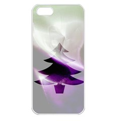 Purple Christmas Tree Apple Iphone 5 Seamless Case (white) by yoursparklingshop