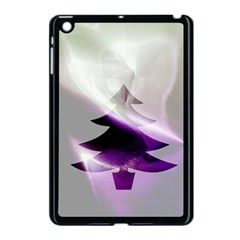 Purple Christmas Tree Apple Ipad Mini Case (black) by yoursparklingshop