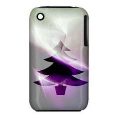 Purple Christmas Tree Apple Iphone 3g/3gs Hardshell Case (pc+silicone) by yoursparklingshop