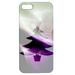 Purple Christmas Tree Apple Iphone 5 Hardshell Case With Stand by yoursparklingshop