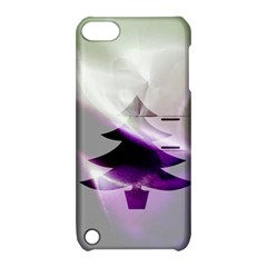 Purple Christmas Tree Apple Ipod Touch 5 Hardshell Case With Stand by yoursparklingshop