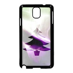 Purple Christmas Tree Samsung Galaxy Note 3 Neo Hardshell Case (black) by yoursparklingshop