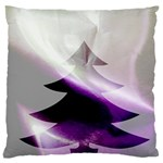 Purple Christmas Tree Standard Flano Cushion Case (Two Sides)