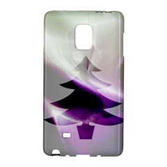 Purple Christmas Tree Galaxy Note Edge by yoursparklingshop