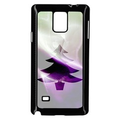 Purple Christmas Tree Samsung Galaxy Note 4 Case (black) by yoursparklingshop