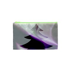 Purple Christmas Tree Cosmetic Bag (xs) by yoursparklingshop
