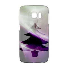 Purple Christmas Tree Galaxy S6 Edge by yoursparklingshop