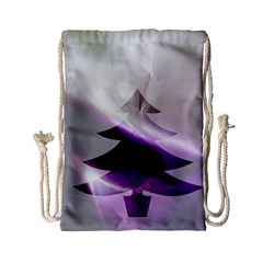 Purple Christmas Tree Drawstring Bag (small) by yoursparklingshop