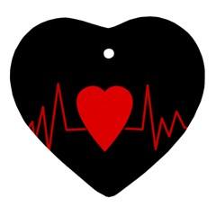 Hart Bit Ornament (heart)  by Valentinaart