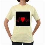 Hart bit Women s Yellow T-Shirt