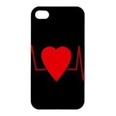 Hart Bit Apple Iphone 4/4s Premium Hardshell Case by Valentinaart