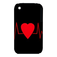 Hart Bit Apple Iphone 3g/3gs Hardshell Case (pc+silicone) by Valentinaart