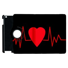 Hart Bit Apple Ipad 2 Flip 360 Case by Valentinaart