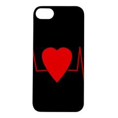 Hart Bit Apple Iphone 5s/ Se Hardshell Case by Valentinaart