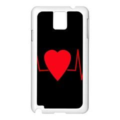 Hart Bit Samsung Galaxy Note 3 N9005 Case (white) by Valentinaart
