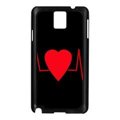 Hart Bit Samsung Galaxy Note 3 N9005 Case (black) by Valentinaart