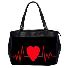 Hart Bit Office Handbags (2 Sides)  by Valentinaart