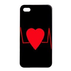 Hart Bit Apple Iphone 4/4s Seamless Case (black) by Valentinaart