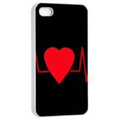 Hart Bit Apple Iphone 4/4s Seamless Case (white) by Valentinaart
