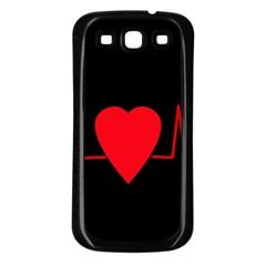 Hart Bit Samsung Galaxy S3 Back Case (black) by Valentinaart