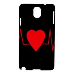 Hart Bit Samsung Galaxy Note 3 N9005 Hardshell Case by Valentinaart