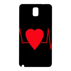 Hart Bit Samsung Galaxy Note 3 N9005 Hardshell Back Case by Valentinaart