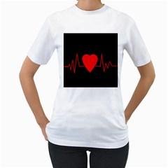 Hart Bit Women s T Shirt (white)  by Valentinaart