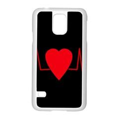 Hart Bit Samsung Galaxy S5 Case (white) by Valentinaart