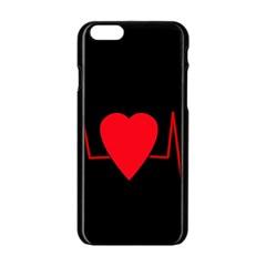 Hart Bit Apple Iphone 6/6s Black Enamel Case by Valentinaart