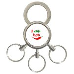 I am hot  3-Ring Key Chains