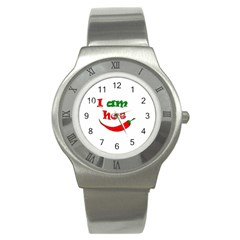 I Am Hot  Stainless Steel Watch by Valentinaart